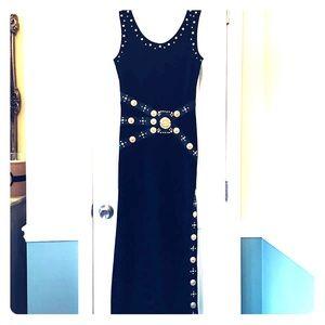 Long Black Evening Cocktail Dress Size M